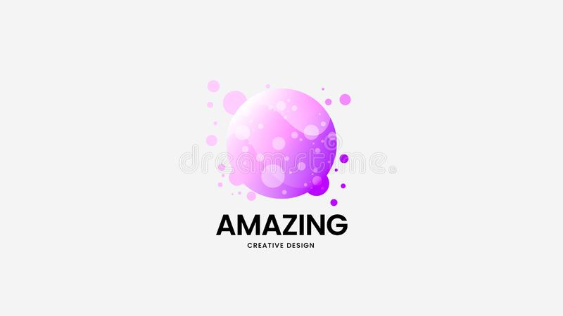 Abstrakcjonistyczny organicznie wektorowy logo znak Premii ilości logotypu emblemata ilustracja Zadziwiającej mody odznaki projek ilustracji