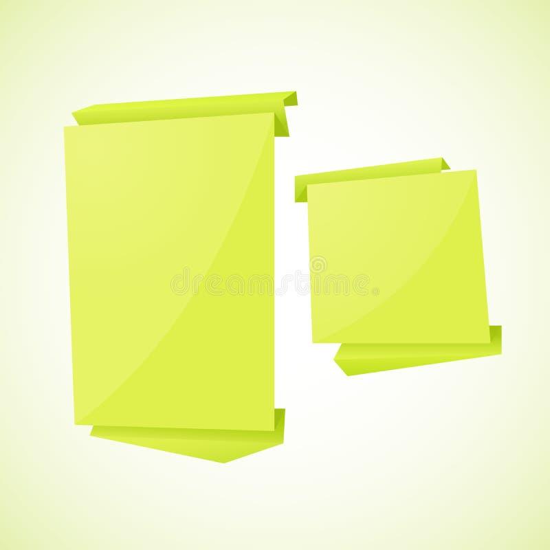Abstrakcjonistyczny origami mowy bąbla wektoru tło. ilustracji