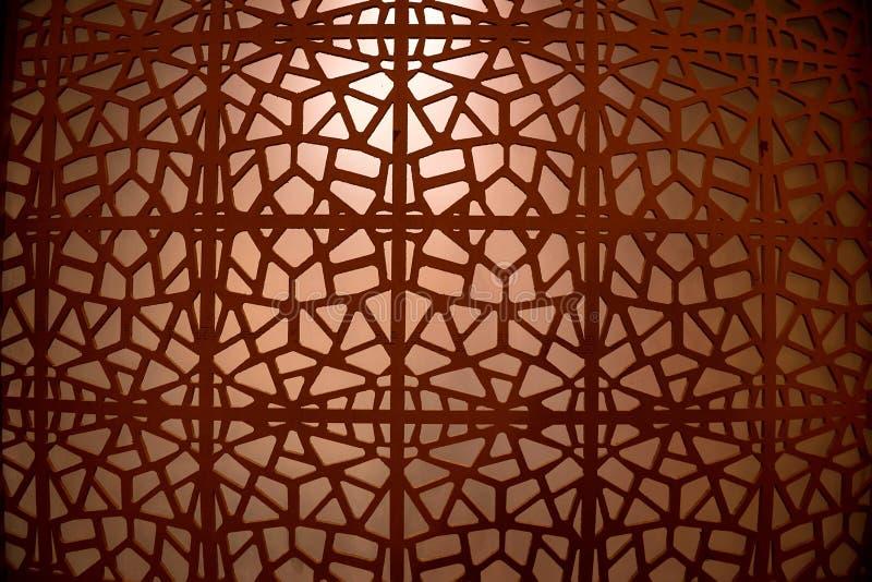 Abstrakcjonistyczny ornament brązu żelaza siatka zdjęcie stock
