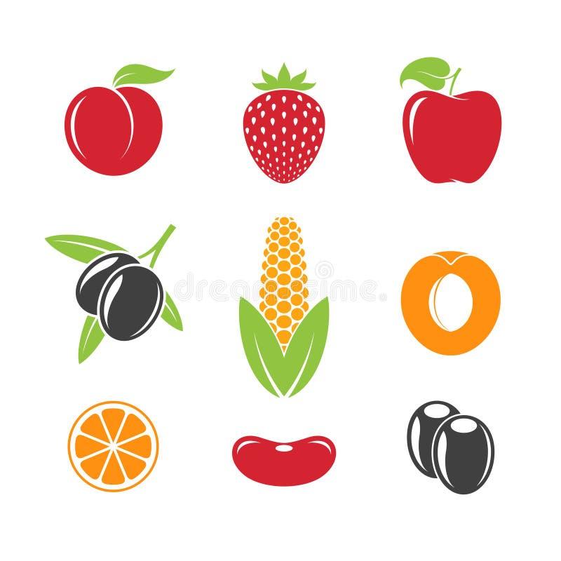 Abstrakcjonistyczny owoc i warzywo royalty ilustracja