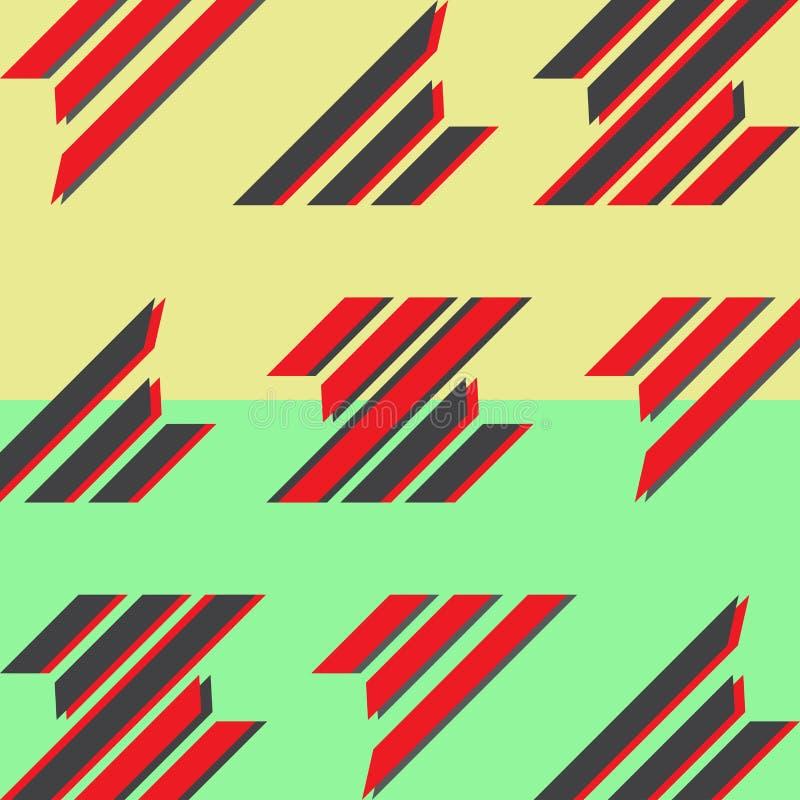 Abstrakcjonistyczny płaski projekta tło Dynamiczny stylowy sztandaru projekt Geometryczny deseniowy plakat Broszurki pokrywy wzór ilustracja wektor