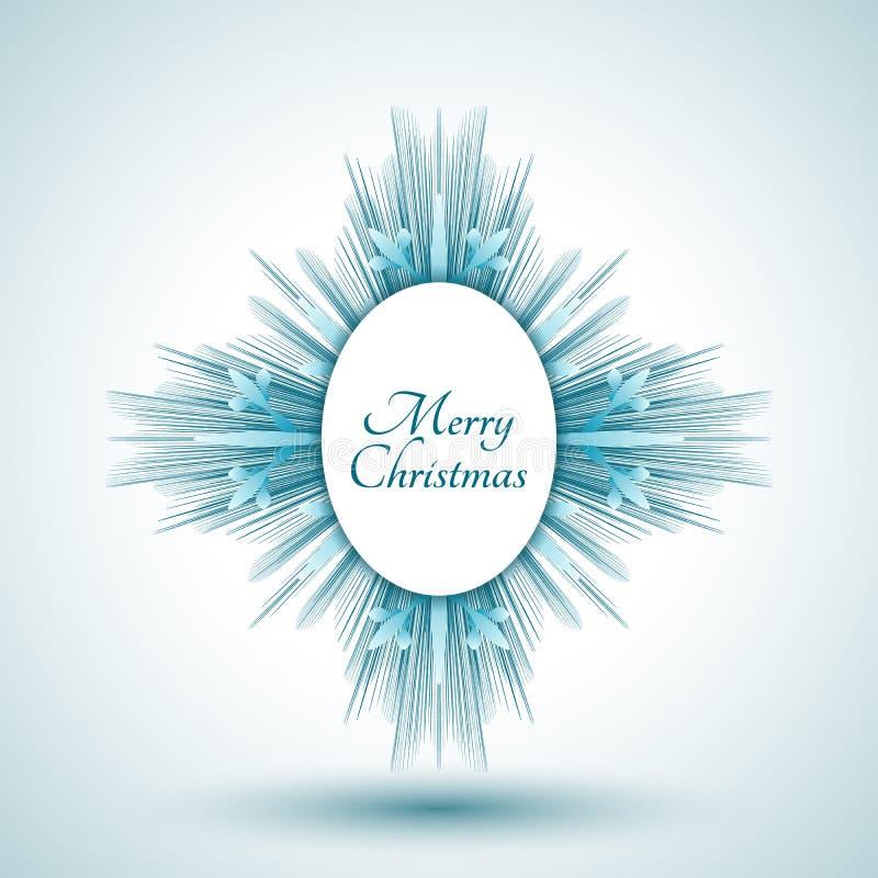 Download Abstrakcjonistyczny Płatek śniegu Z Wesoło Bożych Narodzeń Znakiem Ilustracja Wektor - Ilustracja złożonej z błękitny, dekoracje: 53785524