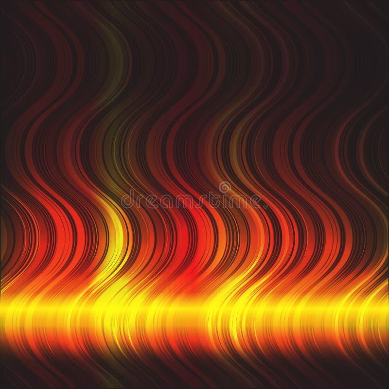 Abstrakcjonistyczny płomienny tło ilustracja wektor