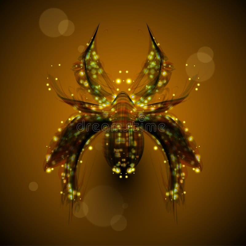 abstrakcjonistyczny pająk ilustracja wektor