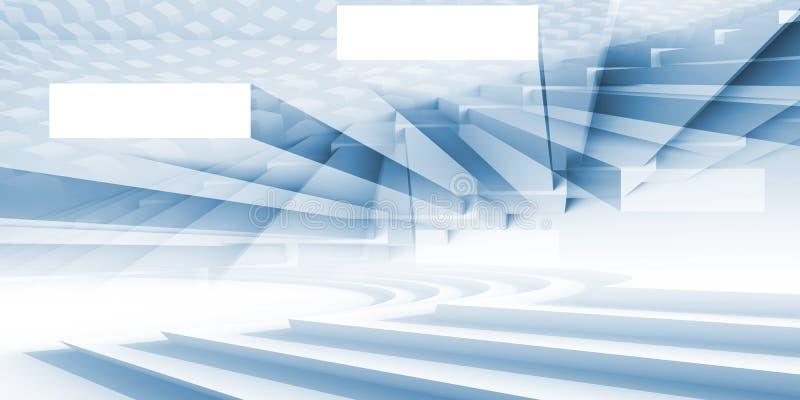 Abstrakcjonistyczny panoramiczny architektury tło 3d ilustracja wektor