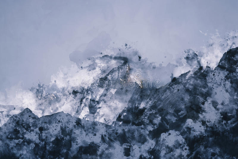 Abstrakcjonistyczny pasmo górskie royalty ilustracja