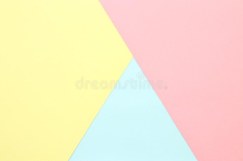 Abstrakcjonistyczny pastel barwiąca papierowa tekstura Minimalni geometryczni kształty i linie modny projekta pojęcie zdjęcie stock