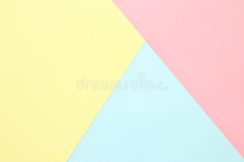 Abstrakcjonistyczny pastel barwiąca papierowa tekstura Minimalni geometryczni kształty i linie modny projekta pojęcie obrazy royalty free