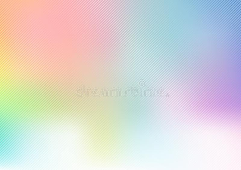 Abstrakcjonistyczny pastel zamazujący tęczy miękki tło z przekątną wykłada teksturę ilustracja wektor