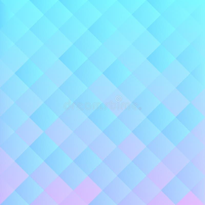 Abstrakcjonistyczny Pastelowy Błękitny i Lily tło ilustracji