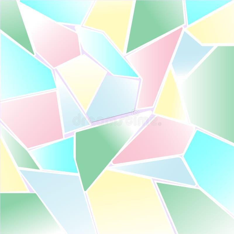 Abstrakcjonistyczny Pastelowy kolorowy wieloboka i mozaiki tło ilustracja wektor