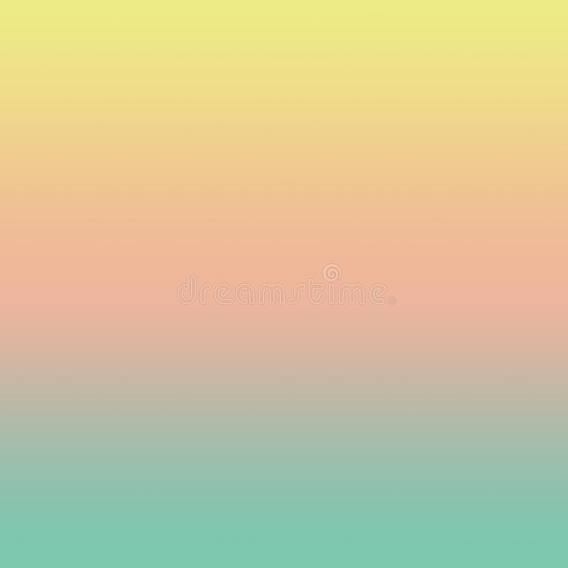 Abstrakcjonistyczny Pastelowy Multicolor Gradientowy Minimalny Ombre tło royalty ilustracja