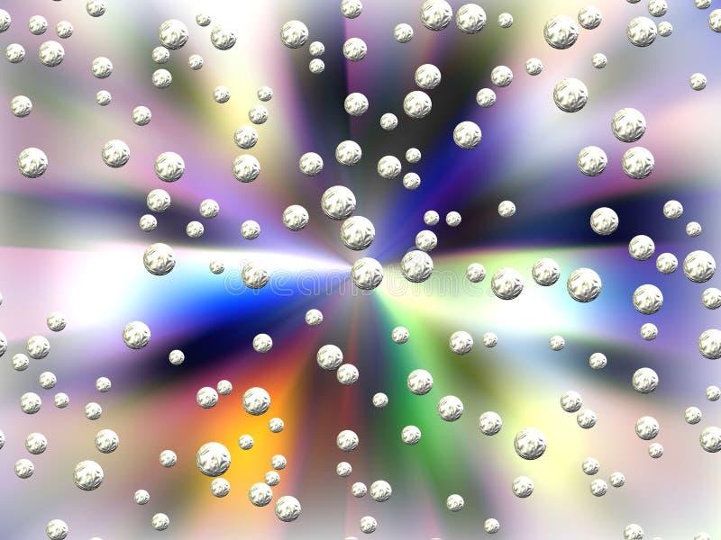 Abstrakcjonistyczny pastelowy tło, planety i sfery ilustracji