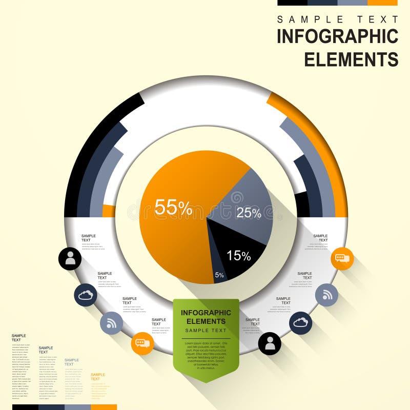 Abstrakcjonistyczny pasztetowej mapy infographics ilustracja wektor