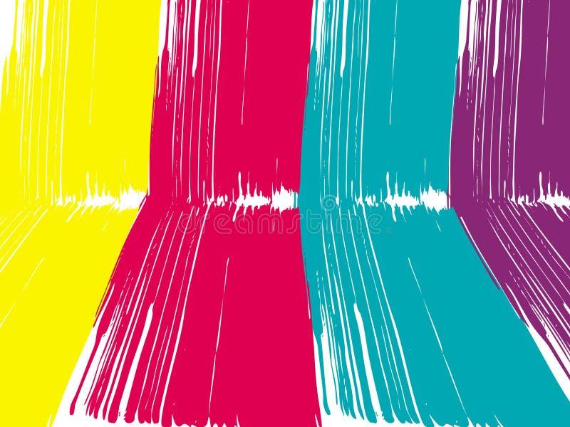 Abstrakcjonistyczny perspektywiczny farby muśnięcie paskuje tło ilustracji