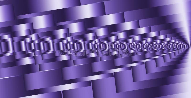 Abstrakcjonistyczny perspektywiczny niekończący się tunel Wektorowy wirtualny technologii tło ilustracji