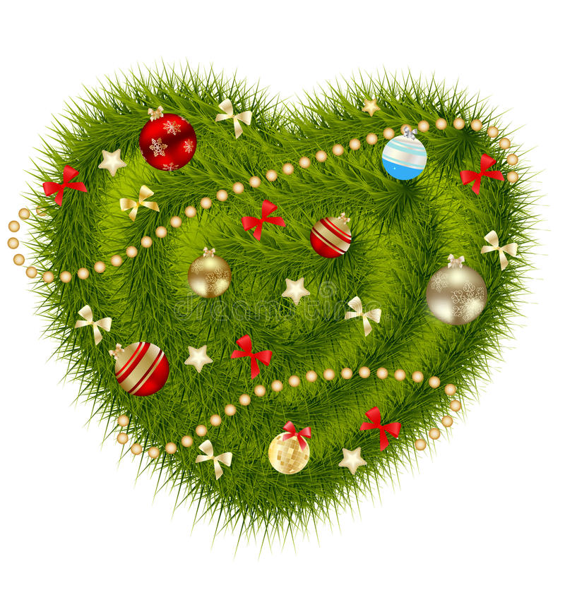Abstrakcjonistyczny piękno nowego roku i bożych narodzeń serce. royalty ilustracja