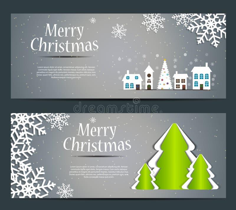 Abstrakcjonistyczny piękno nowego roku i bożych narodzeń sztandar. ilustracji