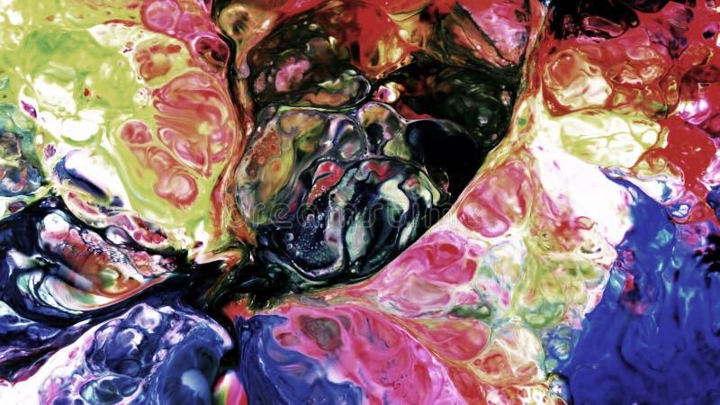 Abstrakcjonistyczny piękno sztuka atramentu farba wybucha kolorowego fantazi rozszerzanie się ilustracja wektor