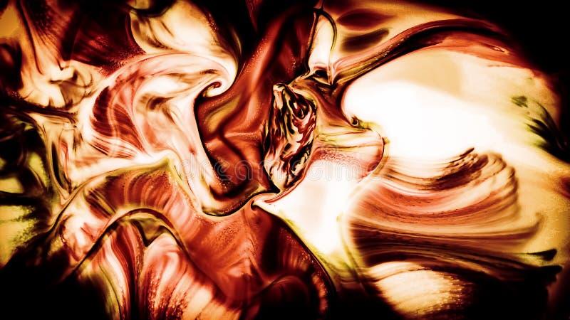 Abstrakcjonistyczny piękno sztuka atramentu farba wybucha kolorowego fantazi rozszerzanie się royalty ilustracja