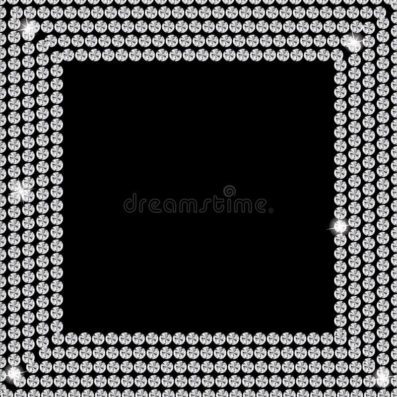 Abstrakcjonistyczny piękny czarnego diamentu tła wektor royalty ilustracja