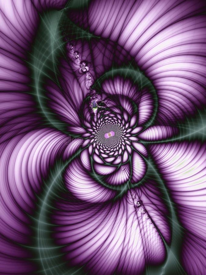 abstrakcjonistyczny piękny kwiat royalty ilustracja