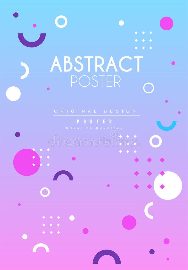 Abstrakcjonistyczny plakatowy oryginał, kreatywnie graficznego projekta szablon dla sztandaru, zaproszenie, ulotka, pokrywa, bros ilustracji