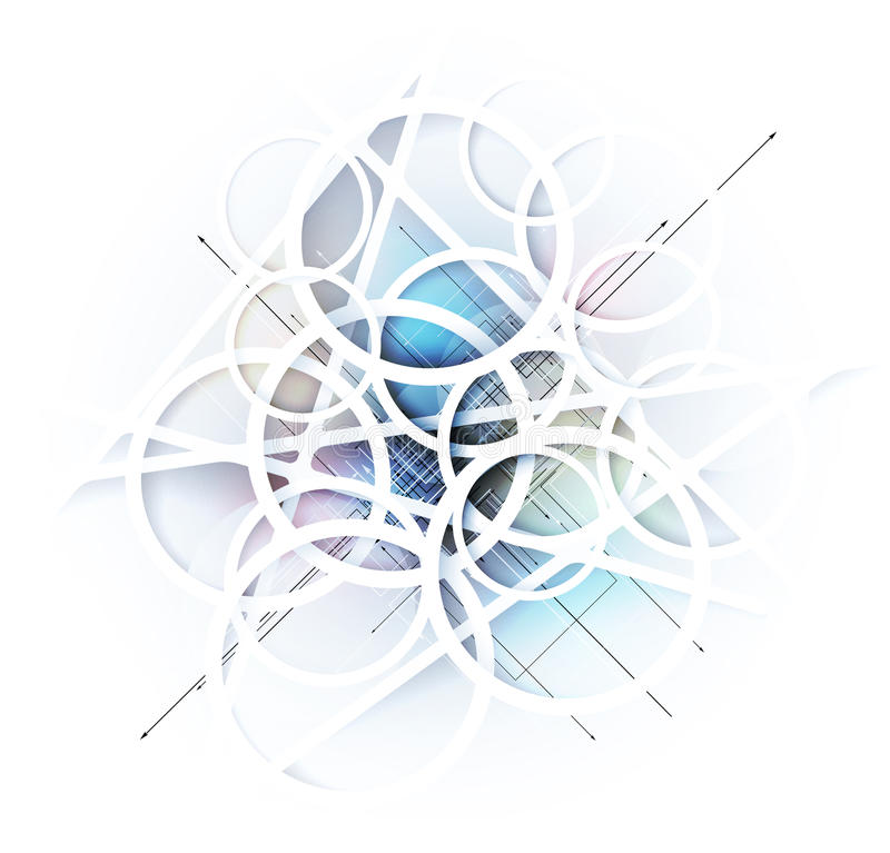 Abstrakcjonistyczny plama lodu technologii biznesu tło ilustracji