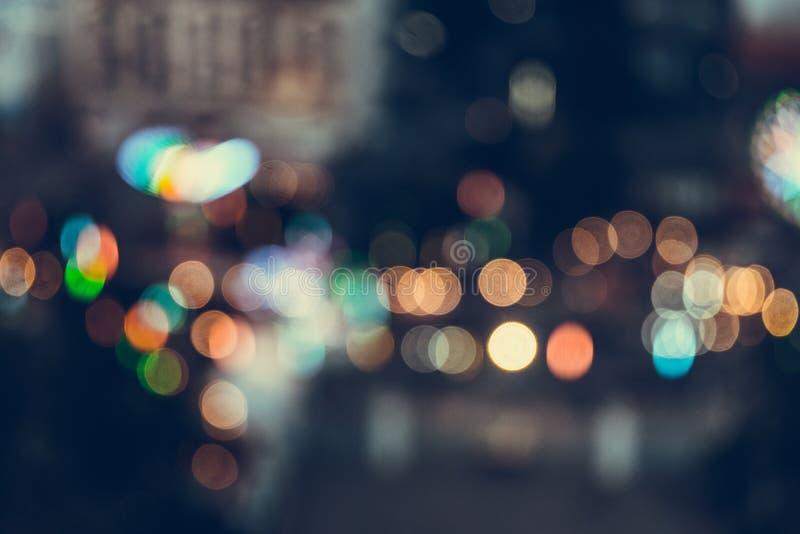 Abstrakcjonistyczny plamy światła bokeh tło, rocznika brzmienie fotografia royalty free