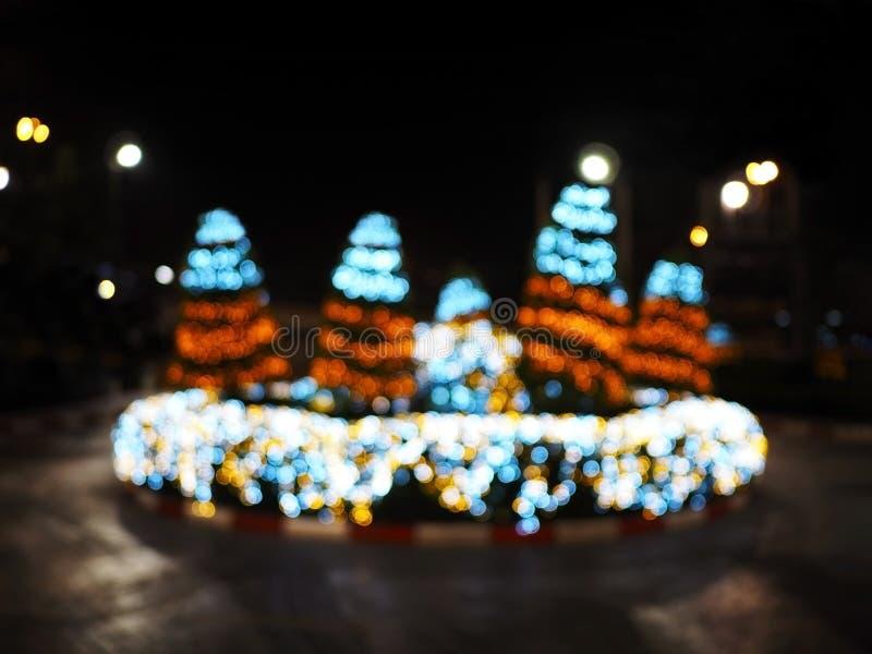 Abstrakcjonistyczny plamy tło choinki oświetlenie fotografia royalty free