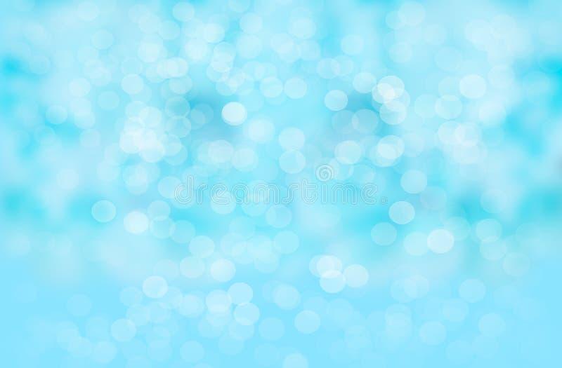 Abstrakcjonistyczny plamy tło: Piękny błękitny Bokeh zdjęcie royalty free