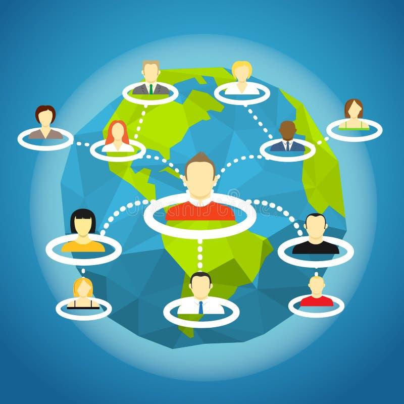 Abstrakcjonistyczny plan ogólnospołeczna sieć wektor ilustracja wektor