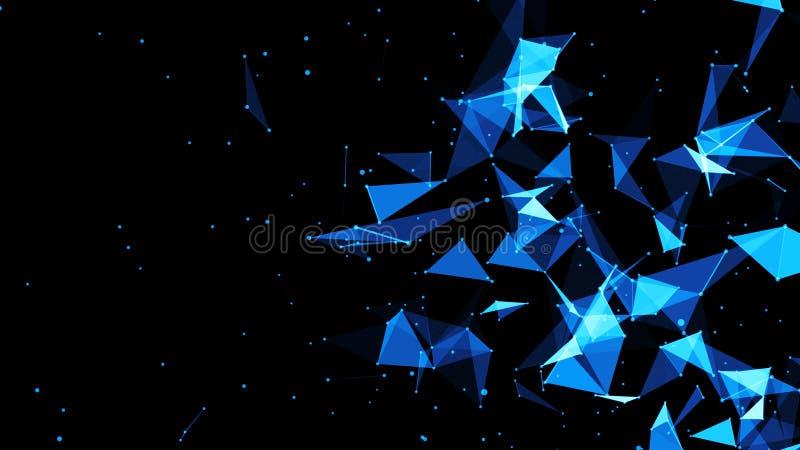 Abstrakcjonistyczny plexus tło Cześć techniki Digital tło ilustracja wektor