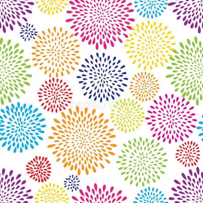 Abstrakcjonistyczny pluśnięcie kropli wzór Fajerwerków świateł lub kwiatów punktu tło ilustracja wektor