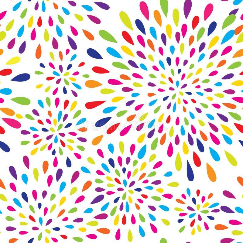 Abstrakcjonistyczny pluśnięcie kropli wzór Fajerwerku punktu tło ilustracji