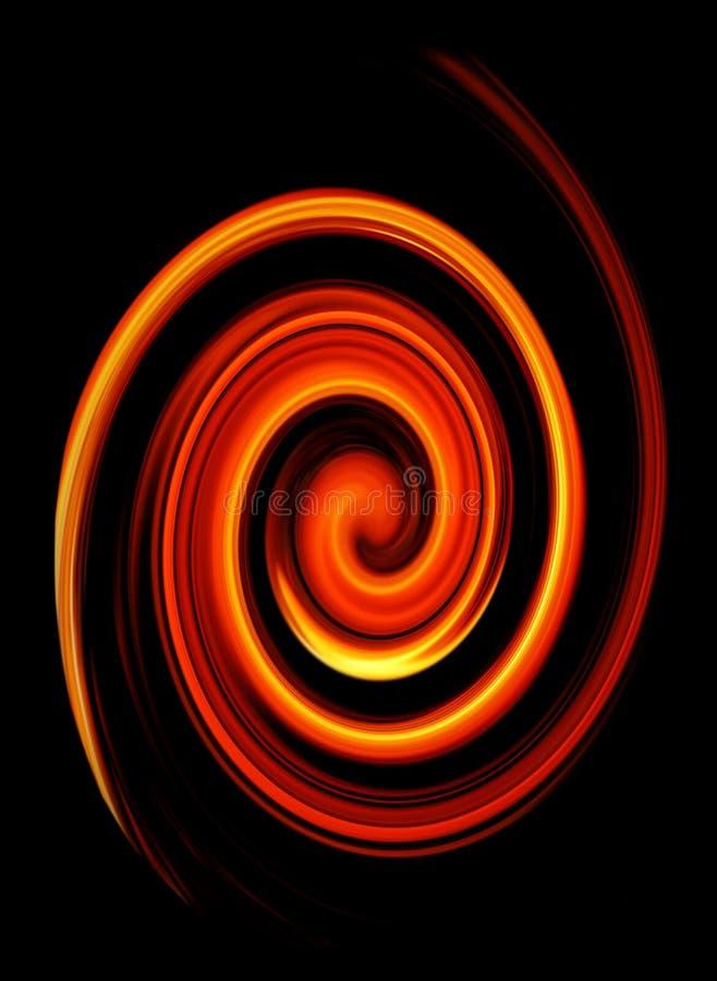 abstrakcjonistyczny pożarniczy pokręcony ilustracji