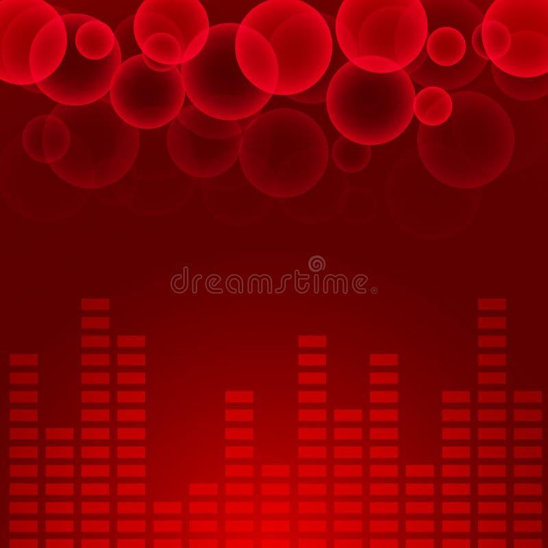 abstrakcjonistyczny podkład muzyczny ilustracja wektor