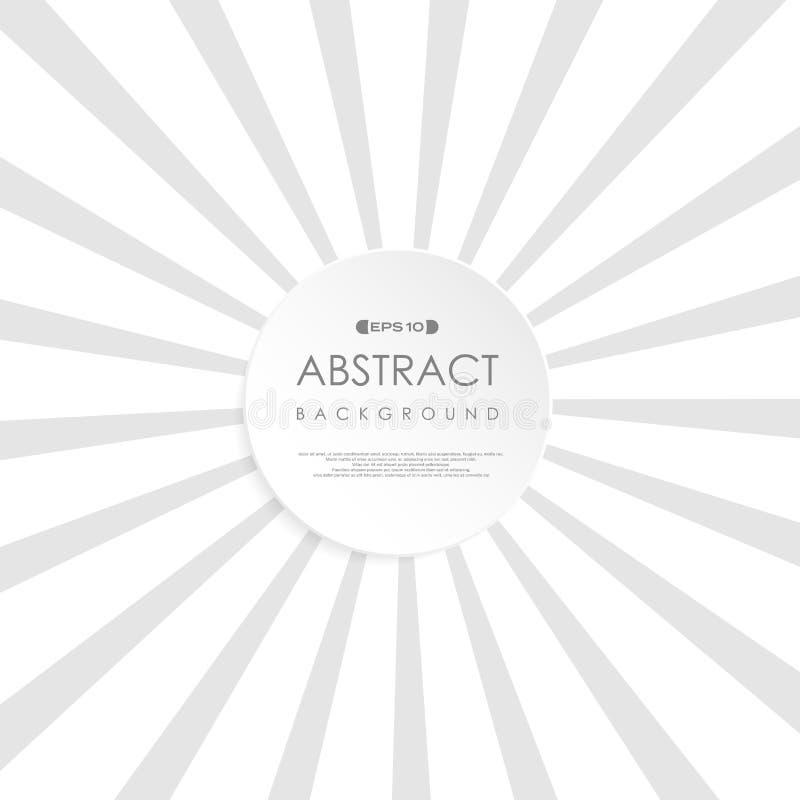 Abstrakcjonistyczny pogodny szarego bielu wybuchu tło Retro styl kopii przestrzeni okręgu kształt w centrum Używać dla broszurki, ilustracja wektor
