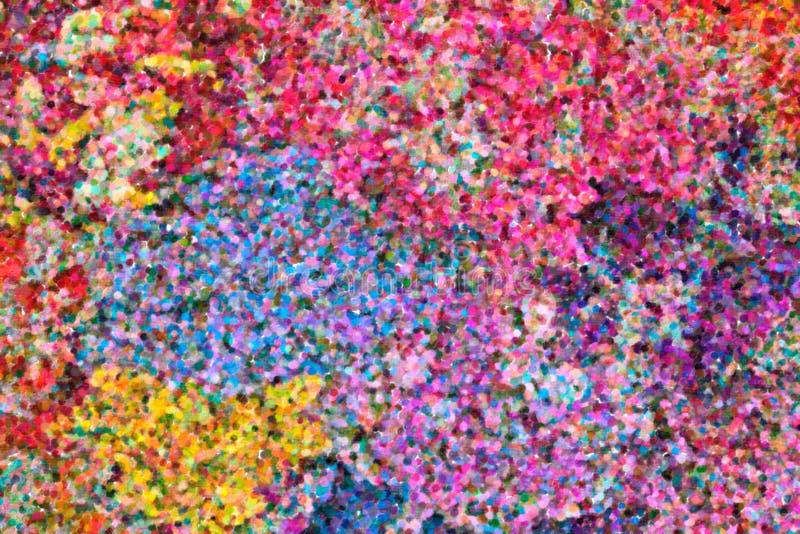 Abstrakcjonistyczny pointylistyczny obraz olejny zdjęcie royalty free