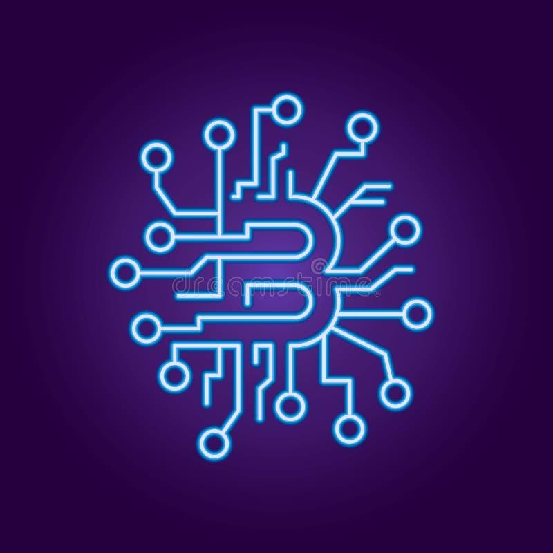 Abstrakcjonistyczny poj?cie bitcoin technologii wirtualna crypto waluta us?uguje premi? ilustracji