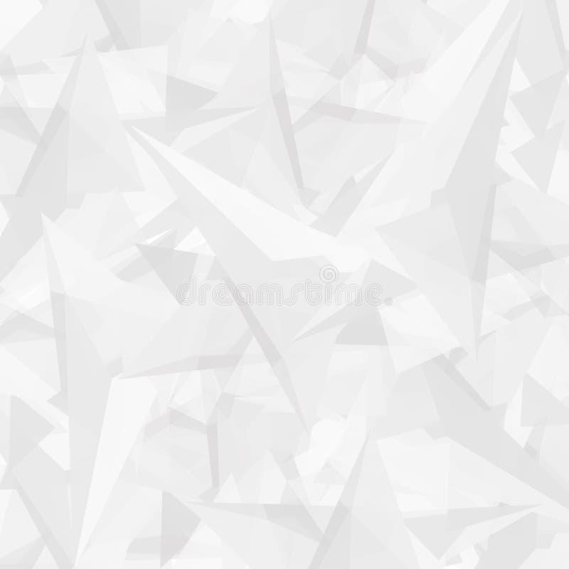 Abstrakcjonistyczny poligonalny biały nowożytny tło z trójbokami royalty ilustracja