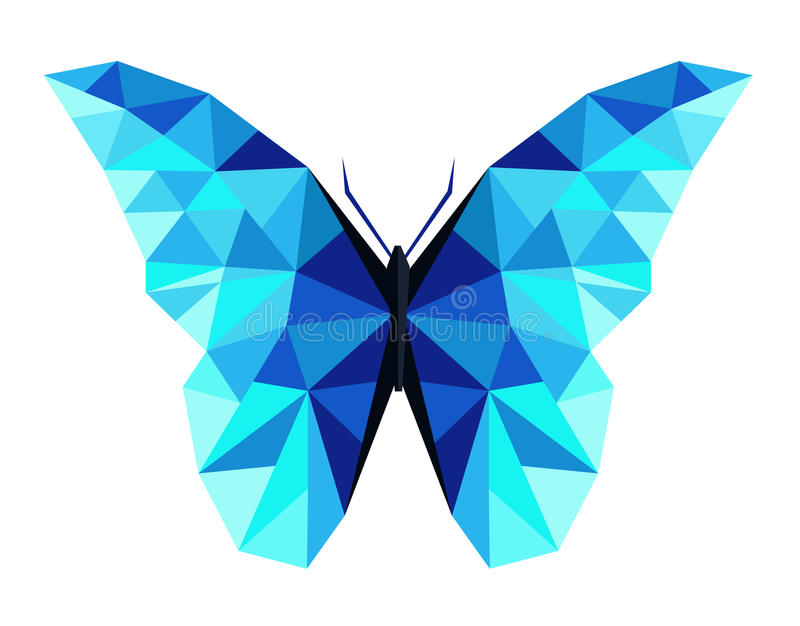Abstrakcjonistyczny poligonalny motyli niski poli- wektor zdjęcie royalty free