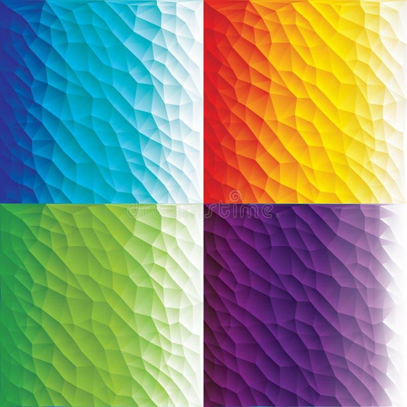 Abstrakcjonistyczny poligonalny tło dla twój pracy: dokumentu, prezentaci, sieci i wiszącej ozdoby zastosowania, biznesowy infogr ilustracji