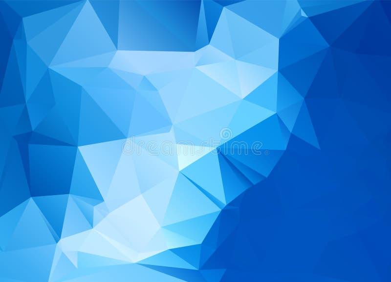 Abstrakcjonistyczny poligonalny tło Futurystyczny styl Geometryczna kolorowa trójbok tekstura Mosaical powierzchnia royalty ilustracja