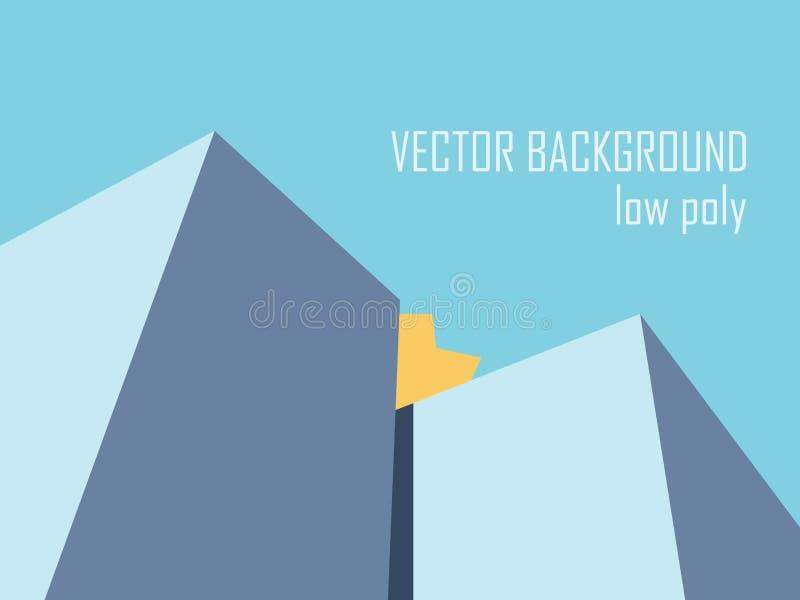 Abstrakcjonistyczny poligonalny tło Niski poli- styl ilustracji