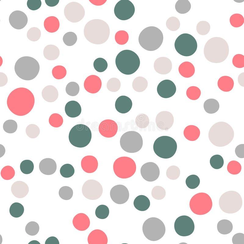 Abstrakcjonistyczny polki kropki wektorowy bezszwowy tło royalty ilustracja