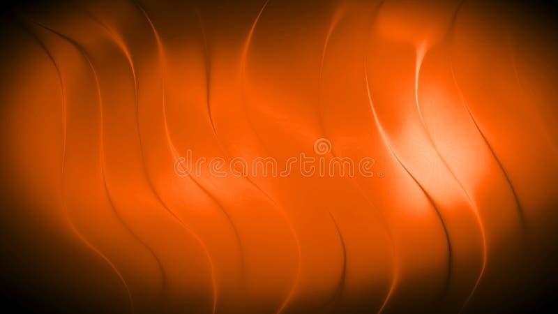 Abstrakcjonistyczny pomarańcze 3d fala tło obrazy stock