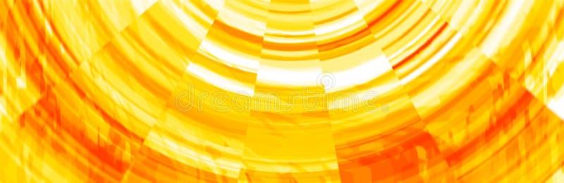 Abstrakcjonistyczny pomarańcze i koloru żółtego sztandaru chodnikowiec ilustracja wektor