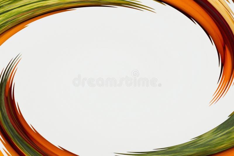 Abstrakcjonistyczny pomarańcze i zieleni zamazany tło ilustracji