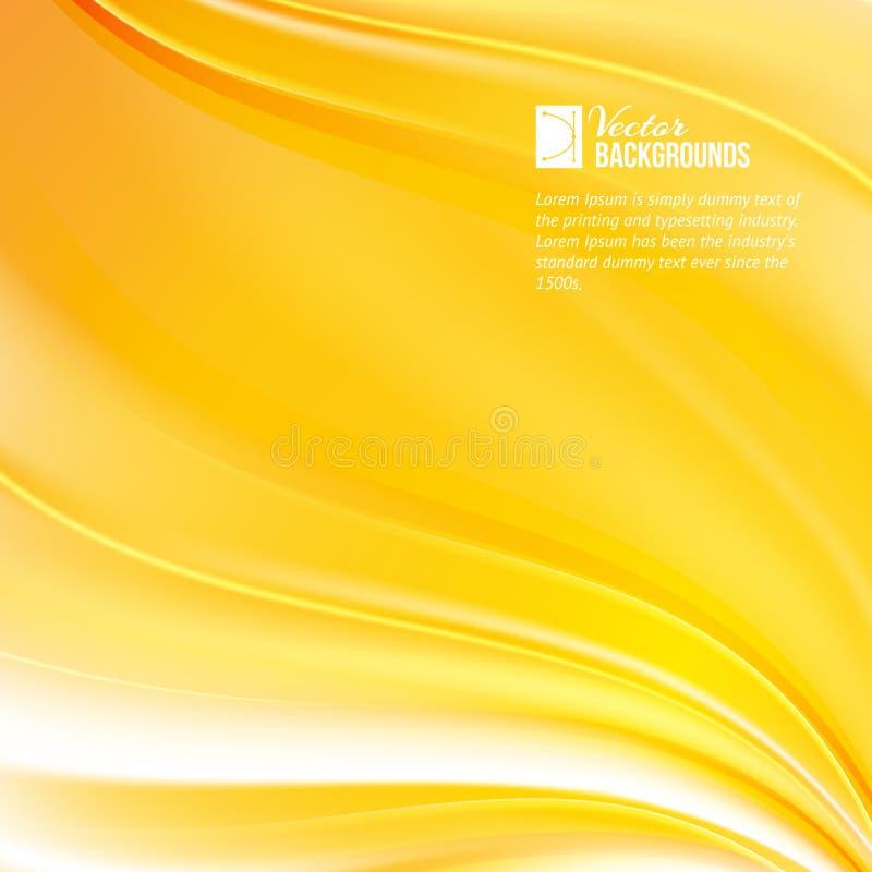Abstrakcjonistyczny pomarańcze wiatr royalty ilustracja
